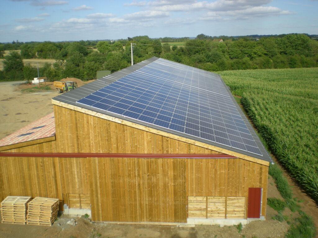 Centrale solaire dans la ville de Chantonnay