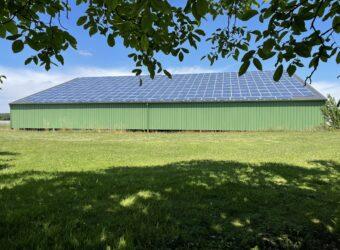 Centrale solaire dans la ville de Bignay