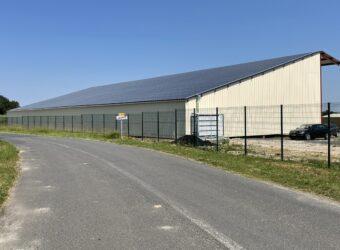 Centrale solaire dans la ville de Joussé