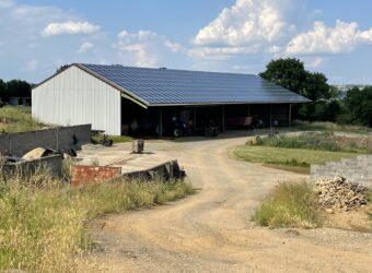 Centrale solaire dans la ville de Saint Martin de Saint Maixent