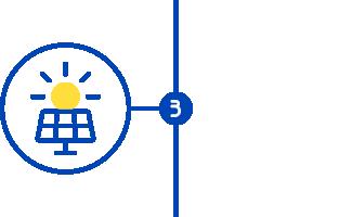 Étape 3 icone d'une panneau solaire de La Centrale Solaire